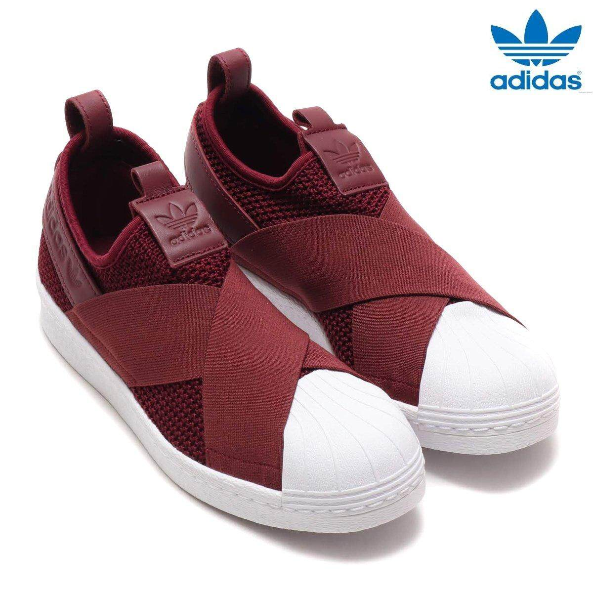 30eab92856c00 Adidas New Originals Superstar Slip-on B37371 Red Night Shoes