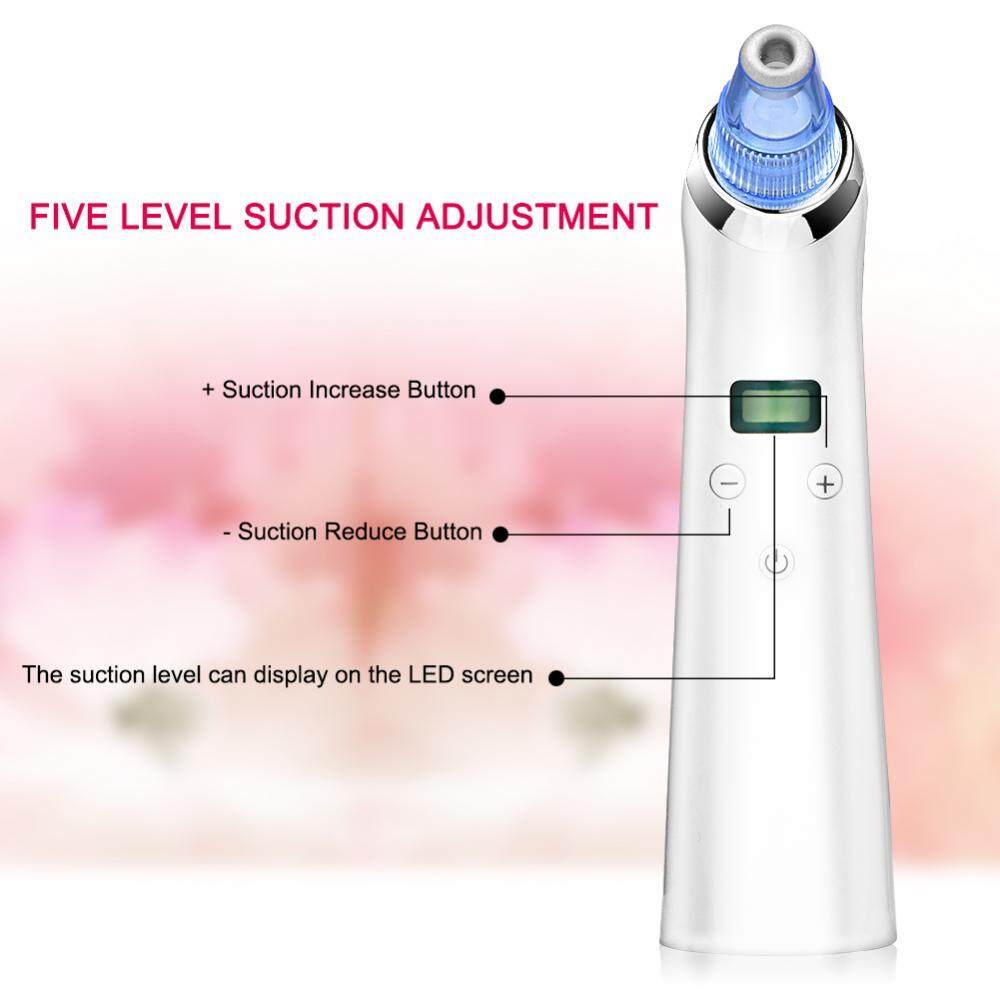 Fitur Sedot Komedo 4 In 1 Power Perfect Pore Facial Cleanser Electric Skin Led Acne Cleaner Vacuum Blackhead Removal 5