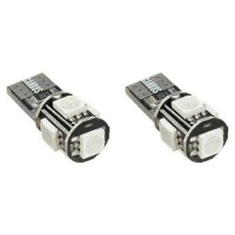 T10 501 194 168 W5W 5SMD LED Error Free Canbus Car Side Light Bulb, 8pcs red