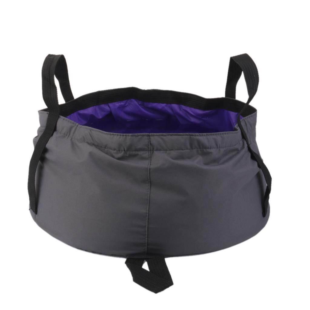 MagiDeal 12L Outdoor Camping Folding Wash basin Bucket Travel Bag Purple - intl