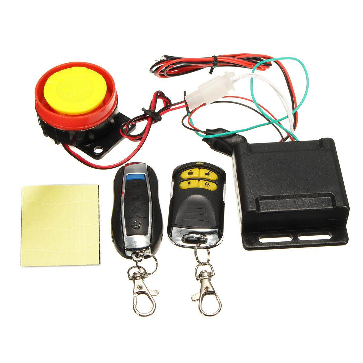 Scooter Car High-Power Police Siren Safety Alarm System Remote Control 12V Anti-theft Motorcycle Bike Specification: Dual Remote Control
