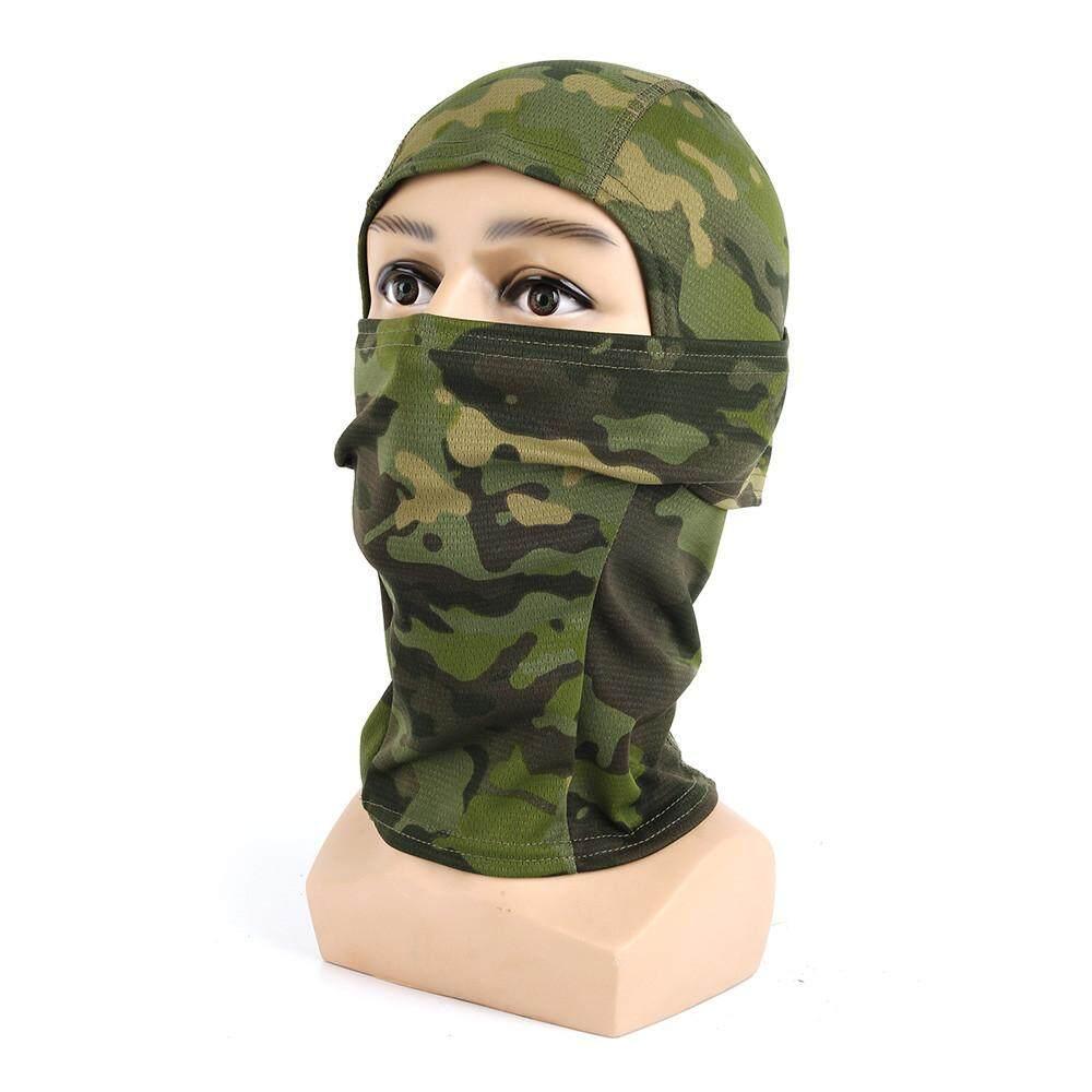 JY Kamuflase Topi Sepeda Motor Balaclava Topi Penuh Wajah Masker Tutup Kepala C