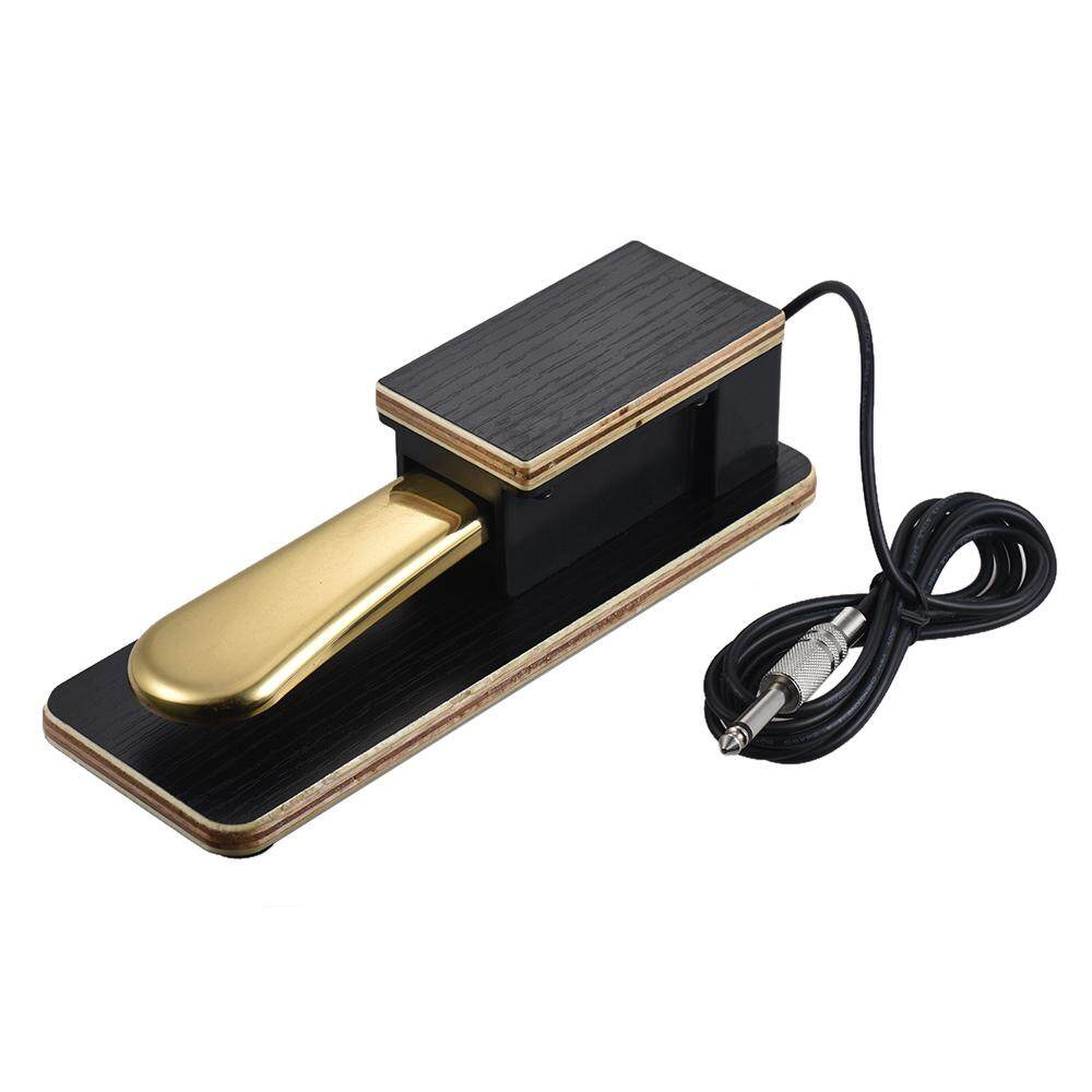 Universal Piano Sustain Pedal Keyboard Foot Damper Pedal 6.35mm Plug for Casio Yamaha Roland Electronic Keyboards - intl