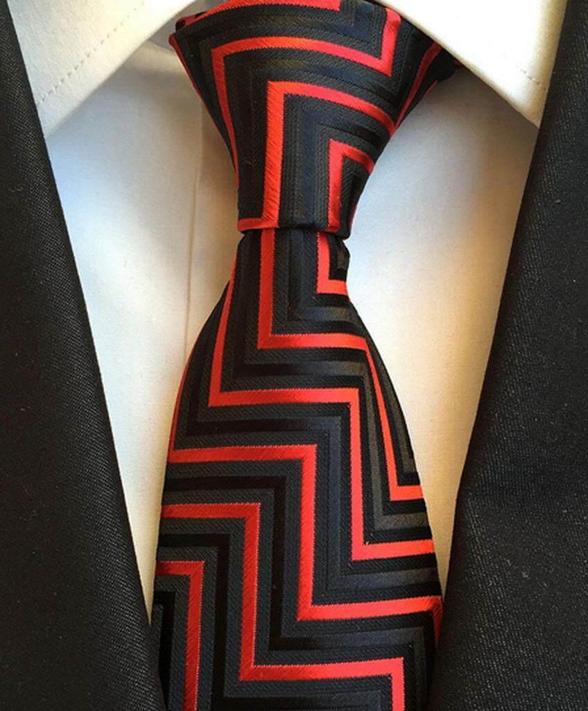 7bfe519d0e5d Bigood Men's Jacquard Polyester Business Formal Tie Wedding Party Necktie  8cm