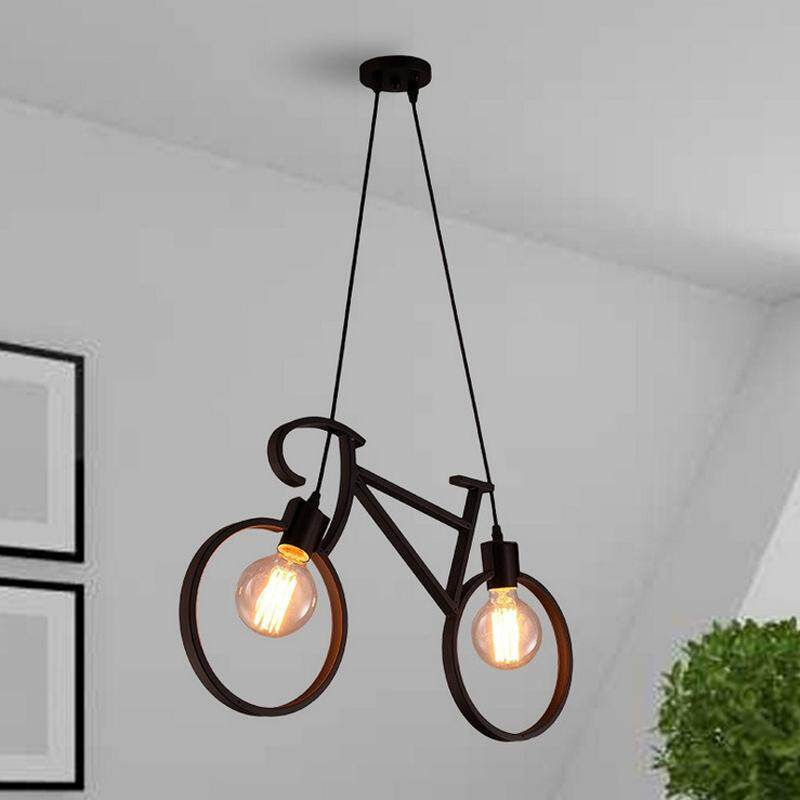 Wrought iron bicycle chandelier Modern Pendant Light for Living Room Kitchen Bar Dining Room Lighting Singapore