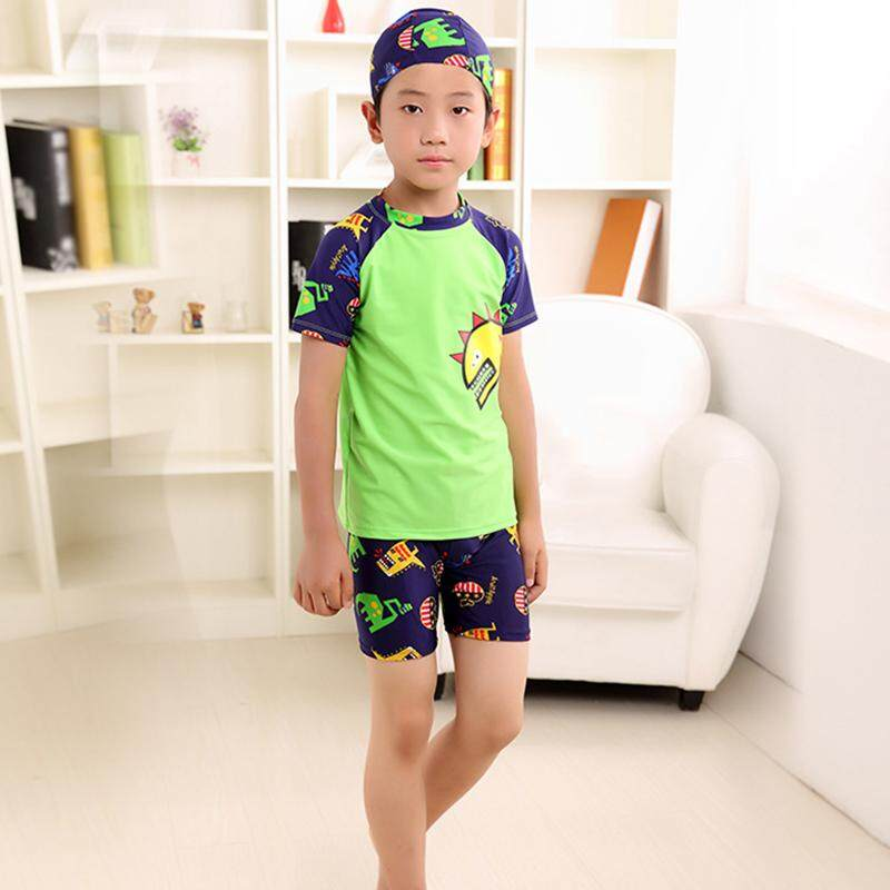 เด็กแยกไดโนเสาร์แห้งเร็ว Boy ชุดว่ายน้ำเด็กชุดว่ายน้ำชุดว่ายน้ำ - Intl.
