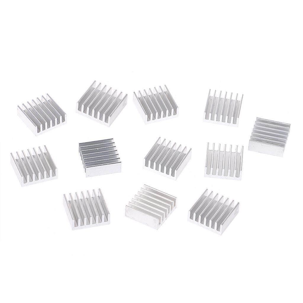 Buy Sell Cheapest 14x14x6mm Aluminum Heat Best Quality Product Heatsink 10 X 10mm Aluminium Radiator Cooling Pendingin Sink 12 Pcs Perak Wastafel Panas Kit 14x14x6 Mm