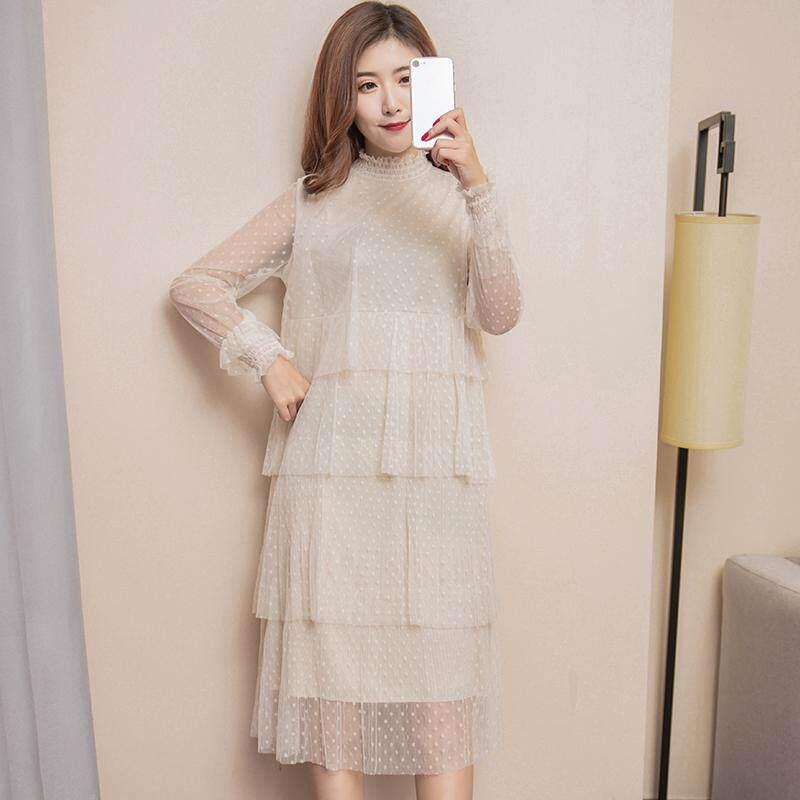 Pakaian wanita hamil model setengah panjang longgar gaun musim semi item baru Gaya Korea modis Kain