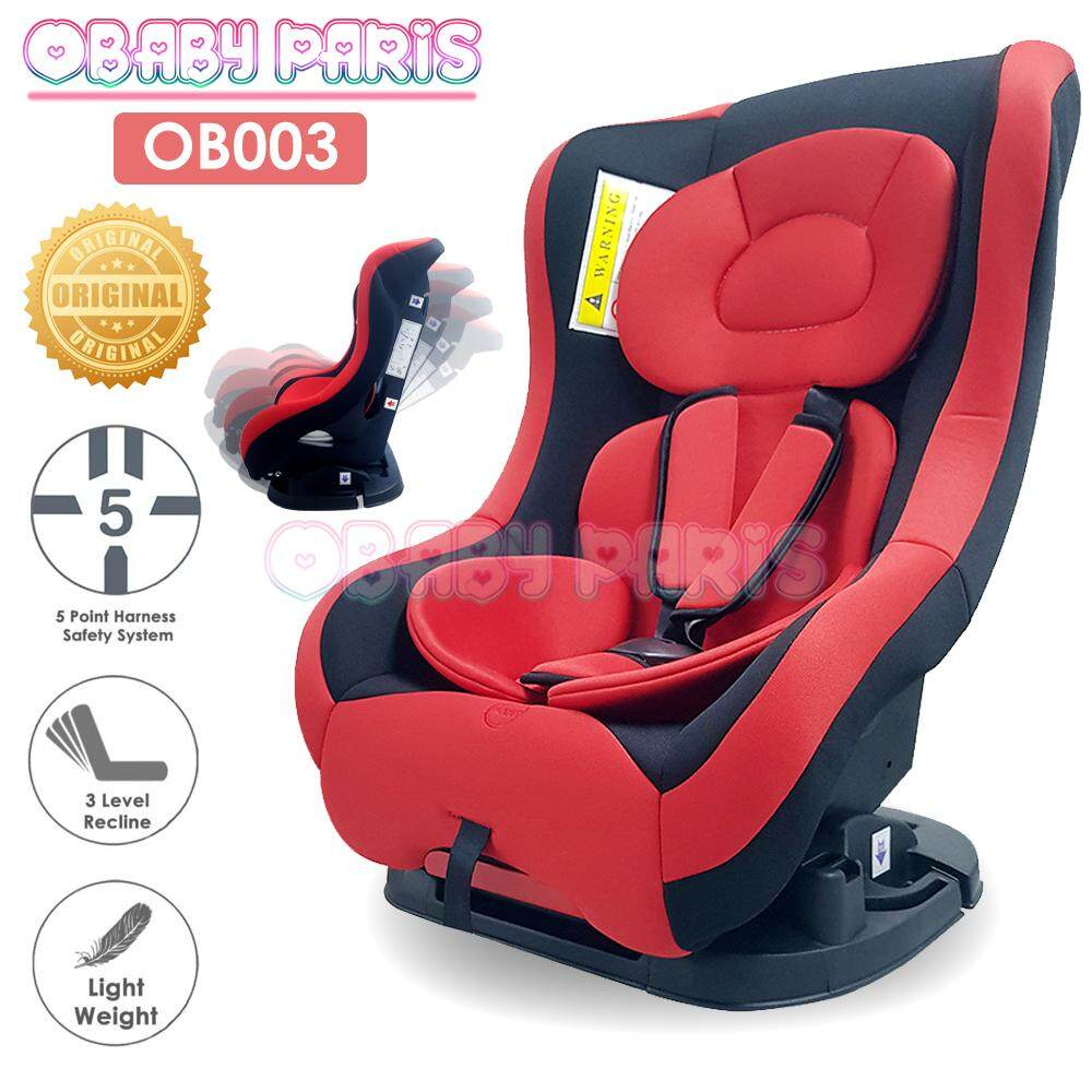 OBABY PARIS OB003 Premium Infant Children Safety Car Seat Reclinable Car Seat with Detachable Seat Pad and Cover