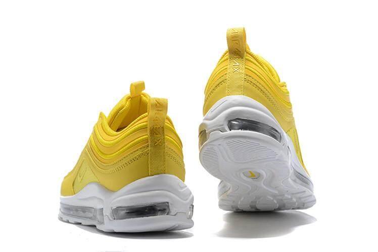 Nike Resmi AIR MAX 97 Low Top Wemen Sepatu Lari Penjualan Global (Kuning  Putih) 138fc37d76