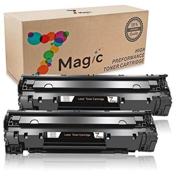 Laser Printer Drums & Toner 7Magic Compatible Toner Cartridge Replacement for HP 85A CE285A CB435A CB436A Canon 125 Use in LaserJet Pro P1102 P1102W P1006 P1109W P1102 P1005 M1132 M1210 MF3010 M1212NF M1217NFW M1214NFH (2 Black) - intl