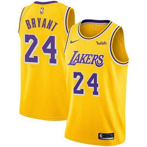 Nike Asli Pria Lakers Los Angeles Kobe Bryant 24 Emas Swingman Kaus Basket-ICON  Edisi aa8cb91a0