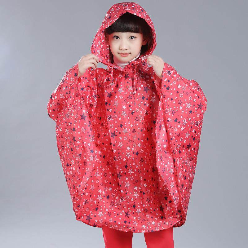 dd6b9b05778 Kids Poncho Lightweight Waterproof Star Printing Cloak Style Raincoat  Korean Fashion New