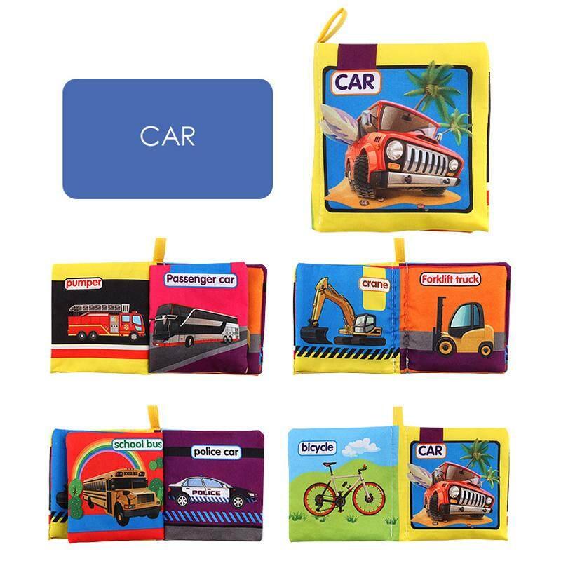 8 Halaman Bayi Mainan Kerincingan Ponsel Mainan Hewan Sayuran Buku Kain Kereta Bayi Baru Lahir Mainan