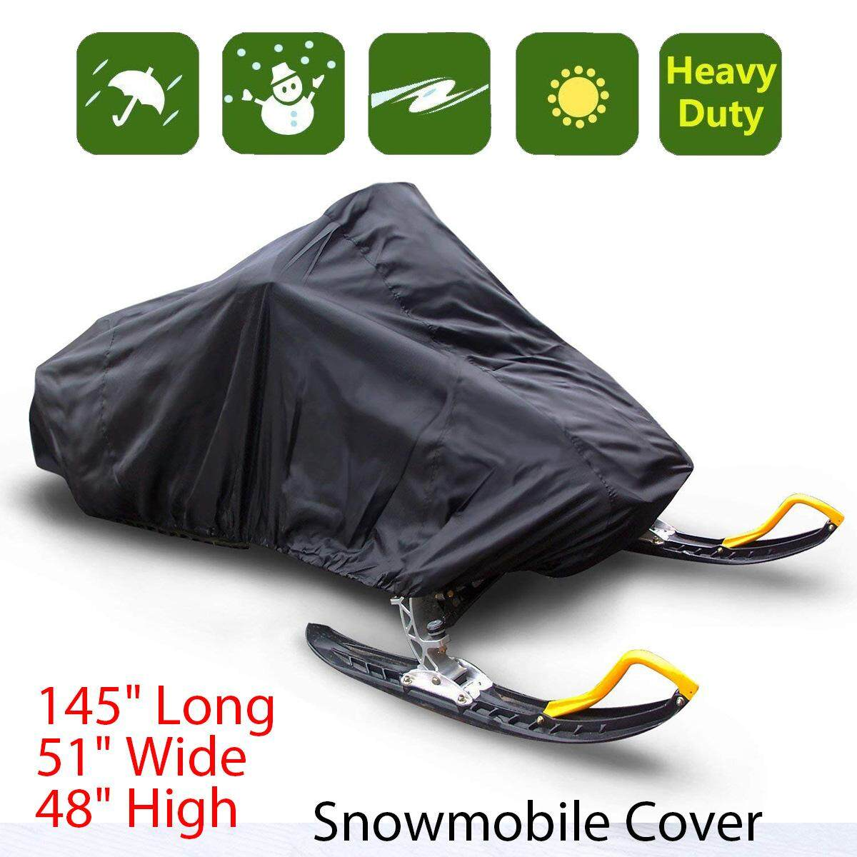 Budge Sportsman Waterproof Snowmobile Cover Fits Snowmobiles 145 Long X 51 Wide X 48 High, Sm-4 - Intl By Audew.