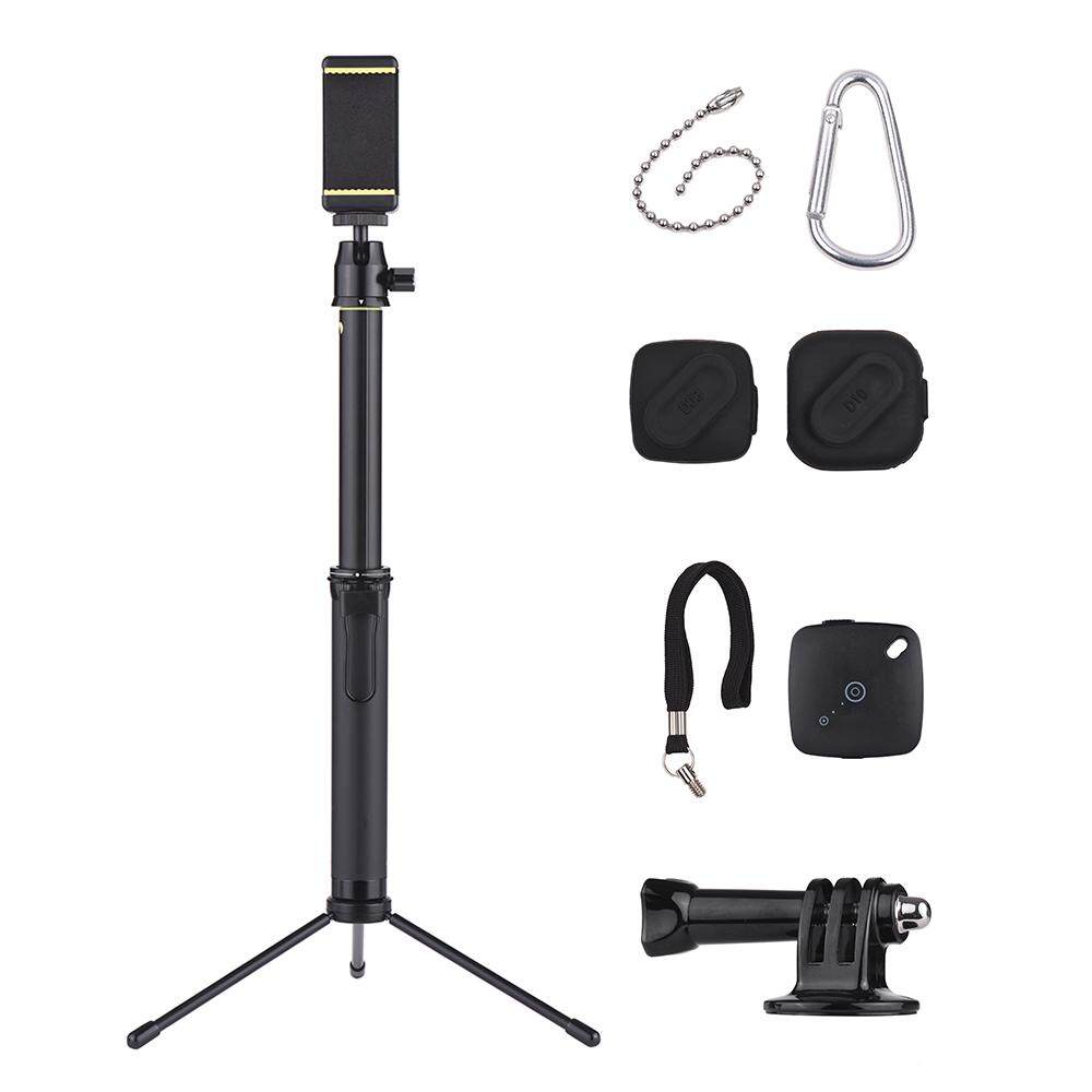 Portable Telescopic Aluminum Alloy Selfie Stick with Phone Remote Controller Phone Holder Action Camera Connector Mini Metal Tripod 2pcs Sleeves for iPhone X 8 8Plus 7Plus 7 and Other 50-80mm for GoPro Hero 6/5/4/3+/3 for DSLR ILDC Camera Max. Load 500g