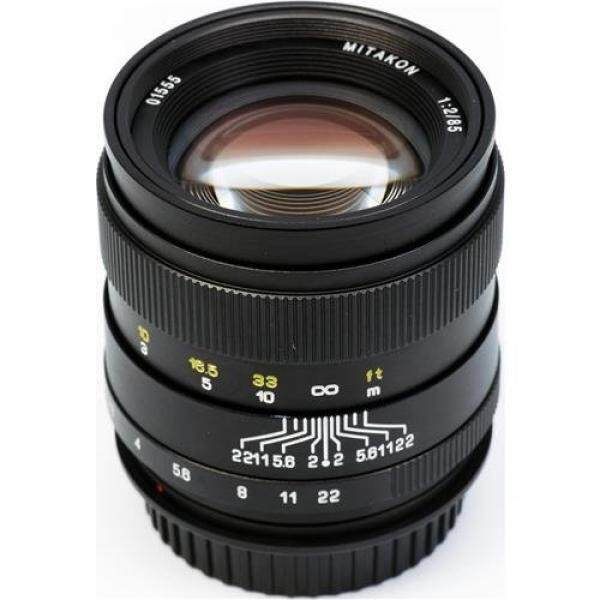 Mitakon Zhongyi 85mm f/2 Lens for Canon EF Mount Full Frame and APS-C-Sized DSLR Cameras - Manual Focus