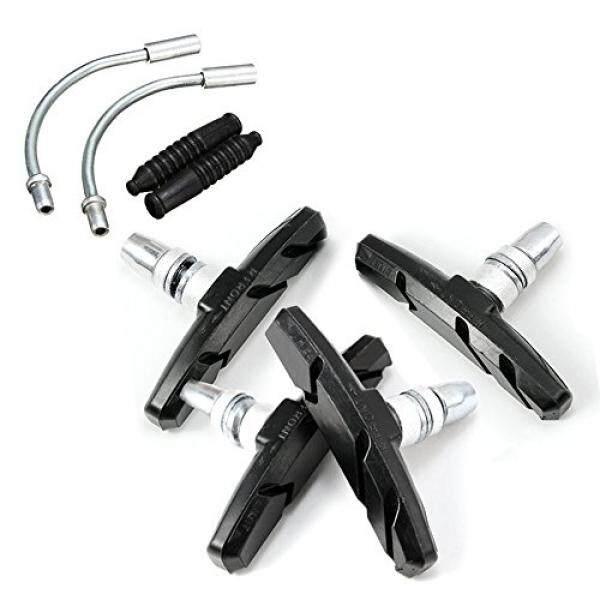 Bike Brake Pads Brake Kit Brake Shoes Pads Cable Guide Protector 8 in One 70mm Bicycle V-Brake Pad set Work with All Shimano Sram mtb V-brake System 2pairs(4pcs) - intl