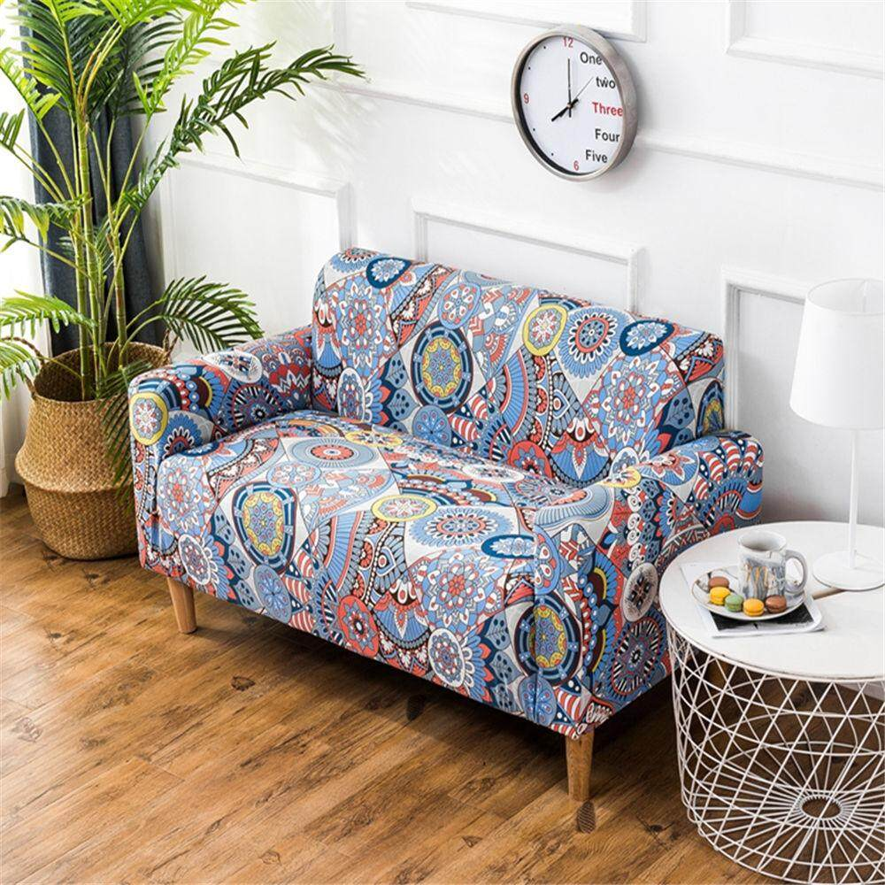 3 Seater Print Stretch Sofa cover Elastic Couch cover Loveseat Chair L style sofa Case Fully Wrapped Universal Ultimate Sofa Covers