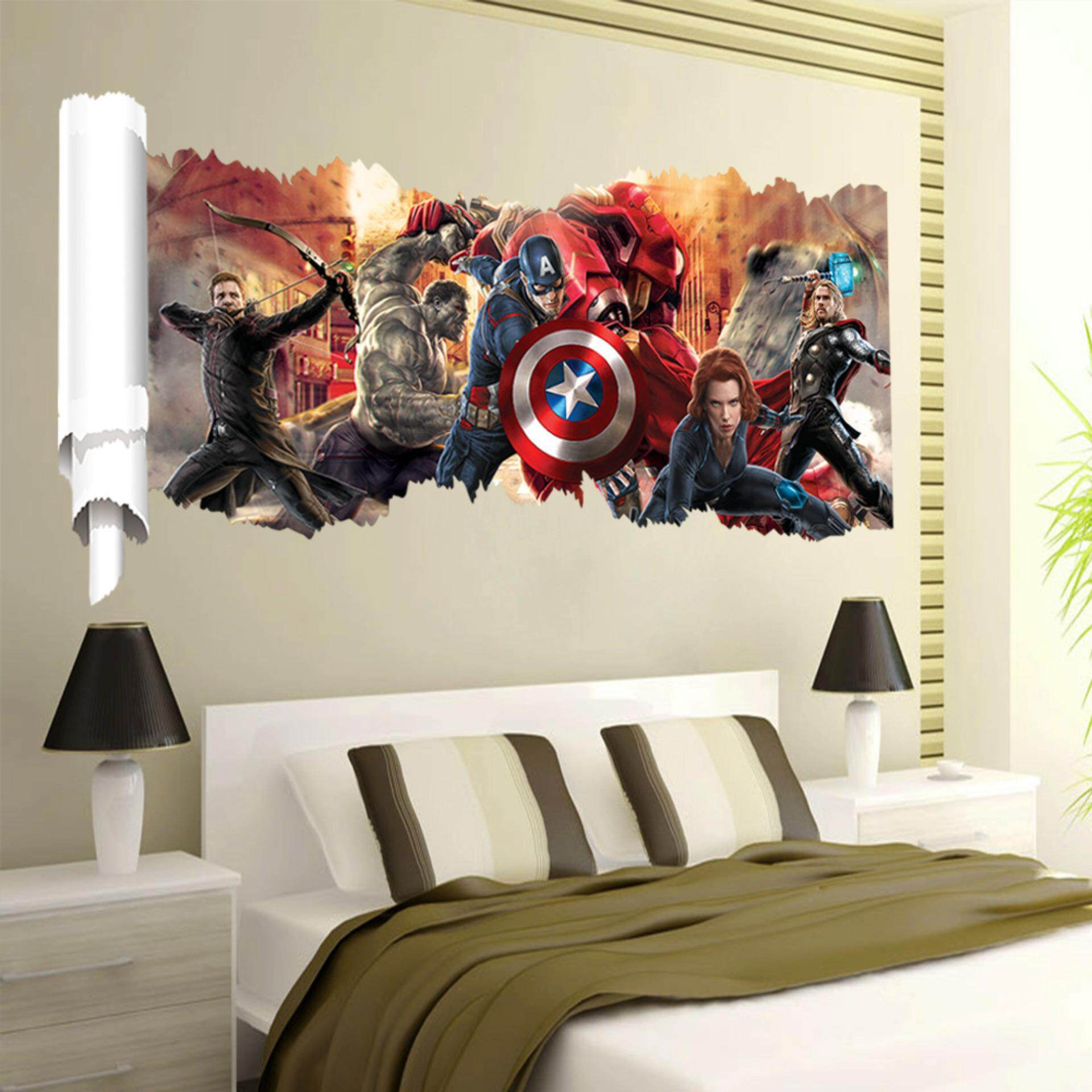 The Avengers PVC Wall Stickers Removable Decal Mural Art Picture Wallpaper Room Home Decor