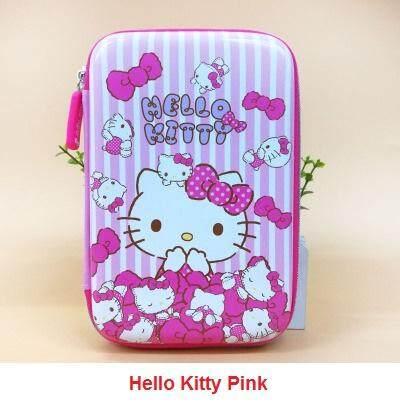 Girl Wide Hardtop Cover Pencil Box Case Hello Kitty
