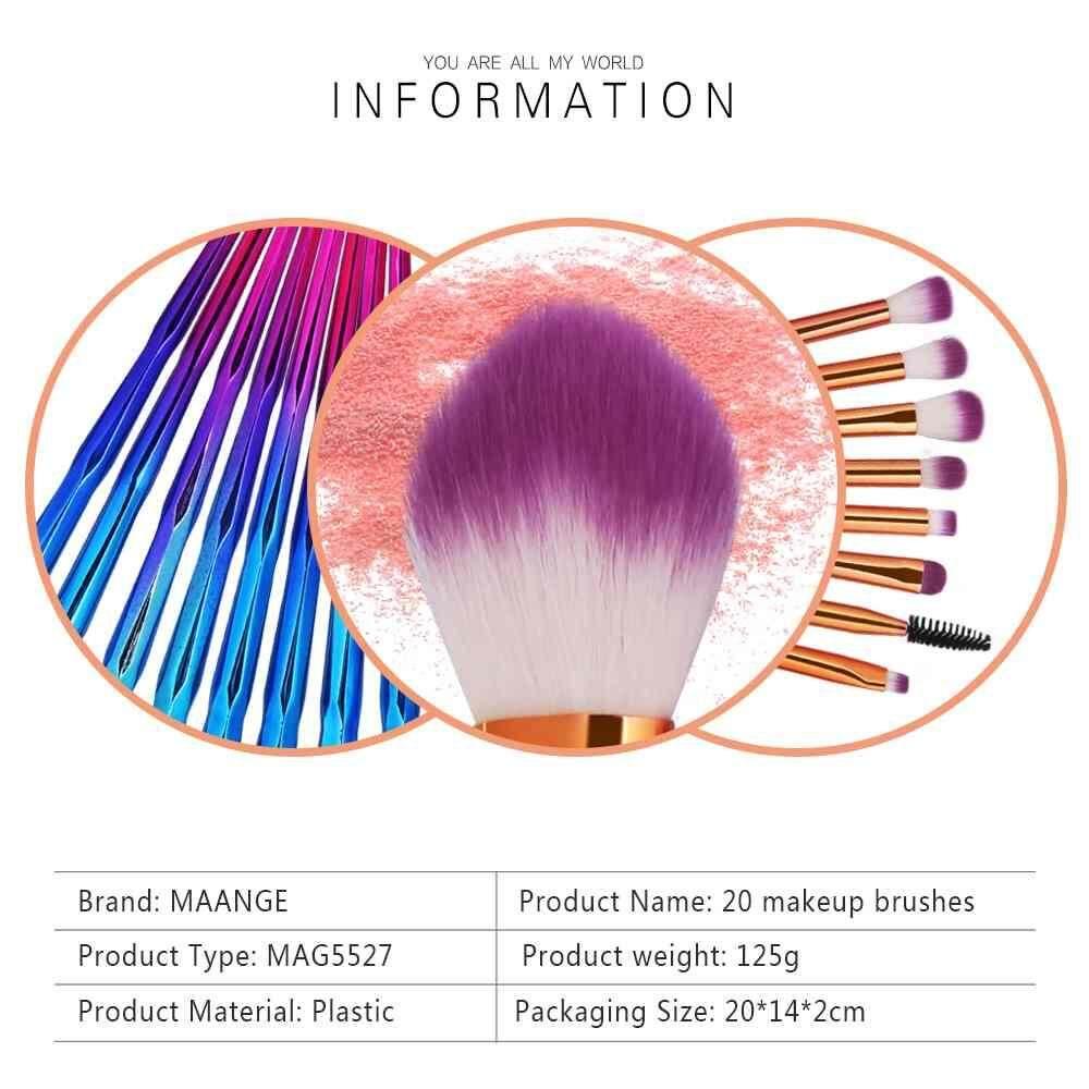 Ai Home 5pcs Unicorn Thread Makeup Cosmetic Brushes Set Green Intl Brush Travelling  Soft Nylon Hair Qooiu New Professsional 20pcs With Colorful Rainbow