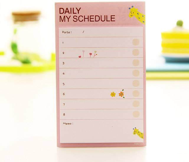 Daily My Schedule Memo Paper