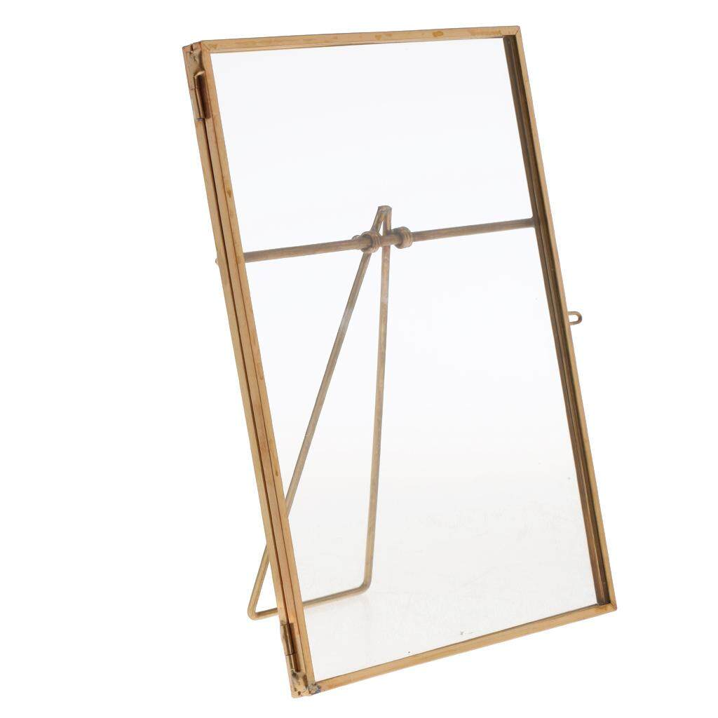 GuangquanStrade Metal & Glass Freestanding Photo Picture Frame Portrait Holder 13 x 18 cm