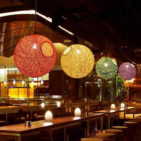 Perfk 2x Ball Pendant Light Ceiling Chandelier Light Shade Fitting Globe Lampshade