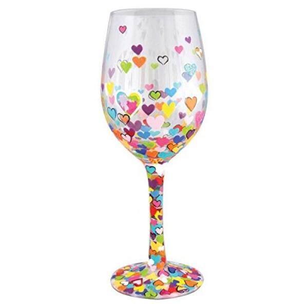 Enesco 4057888 Gelas Anggur Hati dari Jutaan, Banyak Warna/dari Amerika Serikat