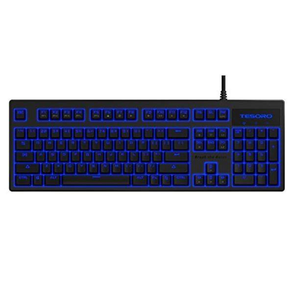 PC Game Hardware Tesoro Brown Mechanical Switch Blue LED Backlit Illuminated Mechanical Gaming Keyboard ) - intl Singapore