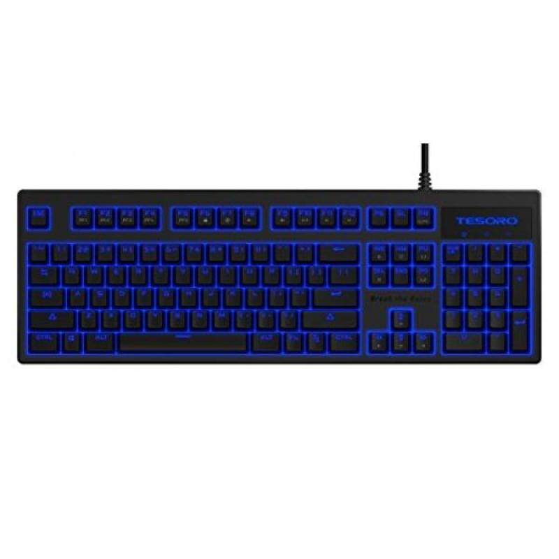 PC Game Hardware Tesoro Brown Mechanical Switch Blue LED Backlit Illuminated Mechanical Gaming Keyboard ) - intl Singapore