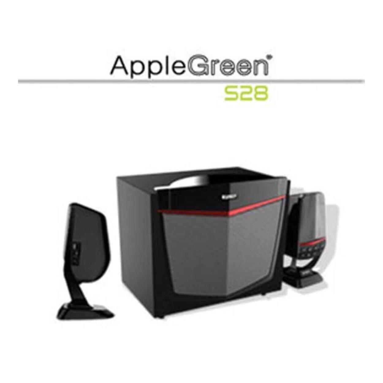 Applegreen S28 120W 2.1CH Subwoofer Speaker (Bluetooth/USB/SD/FM) iPhone iPad Samsung Vivo Oppo Xiaomi Redmi