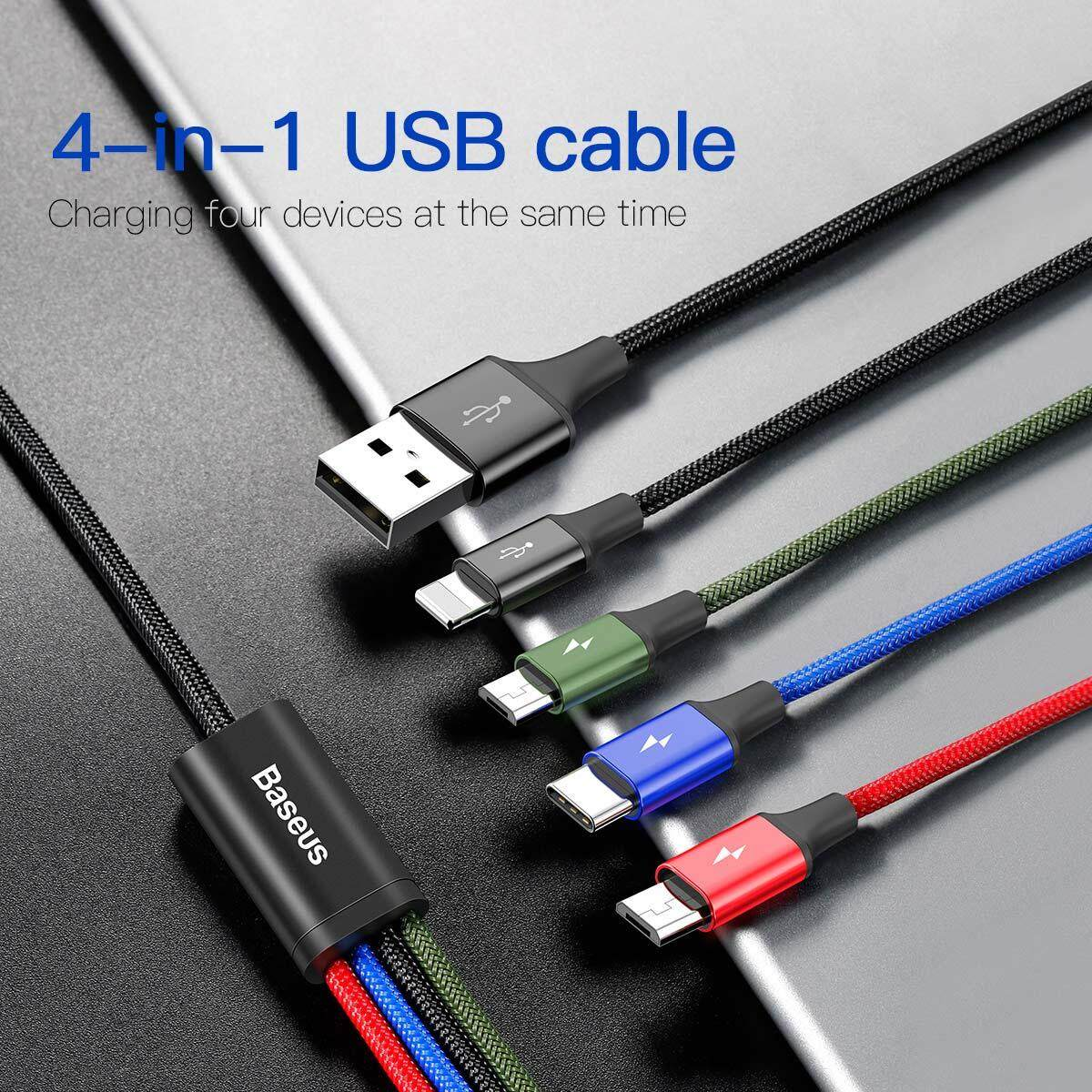 Baseus Phone Accessories Philippines Cellphone Usb Cable Wiring Diagram Together With Of Ipad Fast 35a 12m Lightning 8 Pin Type C Dual Micro