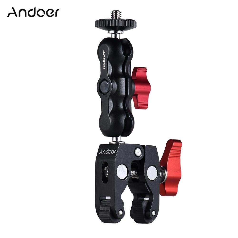 Andoer Kẹp Đầu Bi Đa Năng Kẹp Gắn Bi Arm Siêu Kẹp, Với Chỉ 1/4-20 Màn Hình LCD/DV Cho Điện Thoại GPS LED Video Ánh Sáng Micro Đèn Flash Và Hơn Thế Nữa