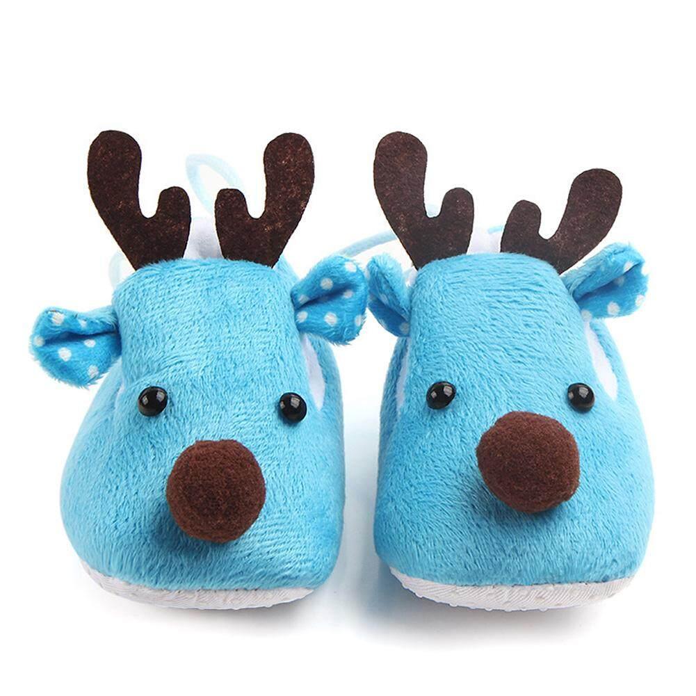 Elk Desain Bayi Ultra Sol Lembut Sepatu Bulu Domba Sebagai Hadiah Natal Untuk Musim Gugur Musim Dingin Spesifikasi: 10.5 Cm By Chesy.