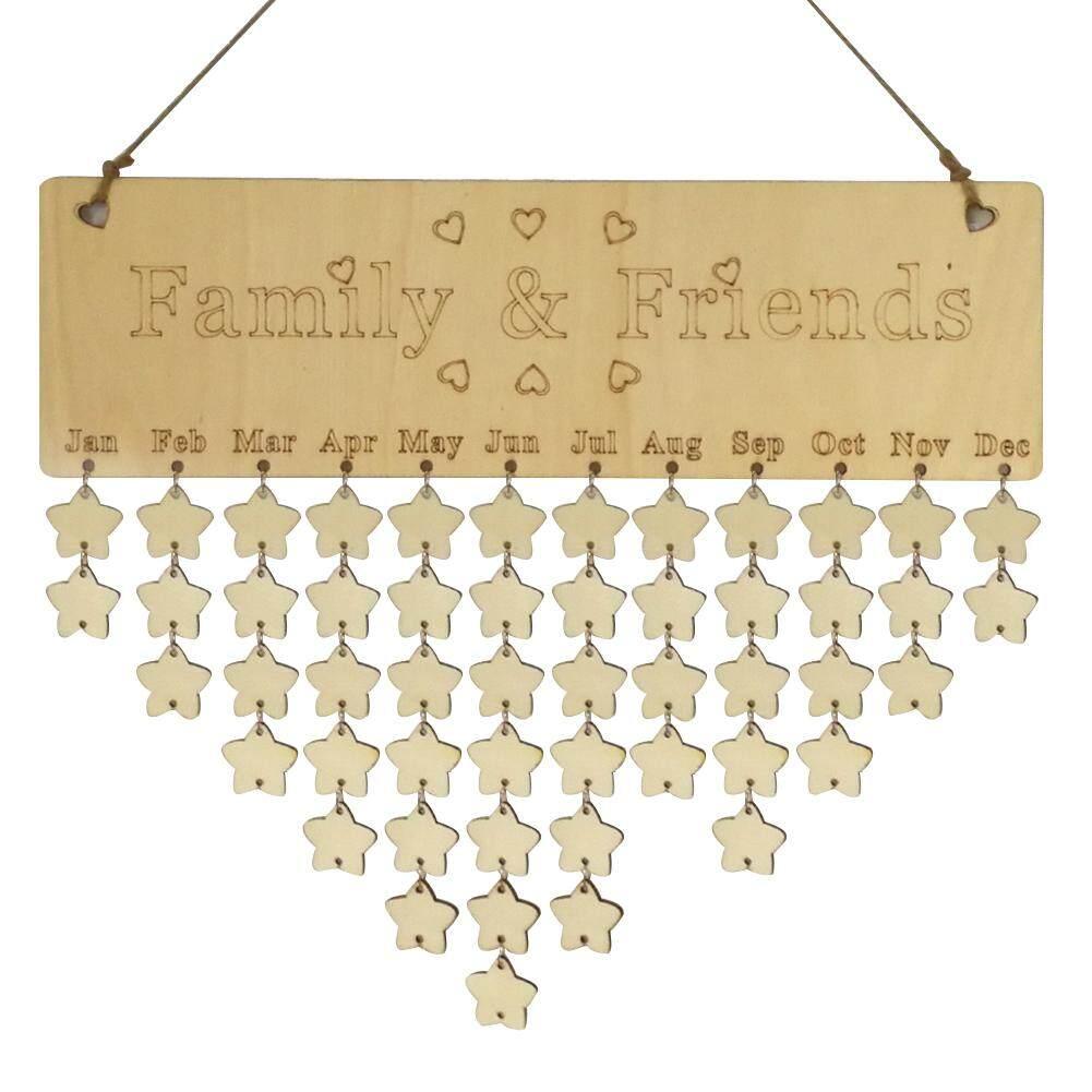 Mua Reminder Board Wooden Birthday Plaque Sign Hanging Family Friends Calendar DIY Home Dercation - intl