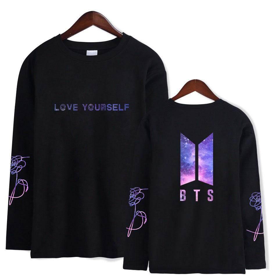New BTS Long Sleeve T - Shirt Star - Sky Cotton
