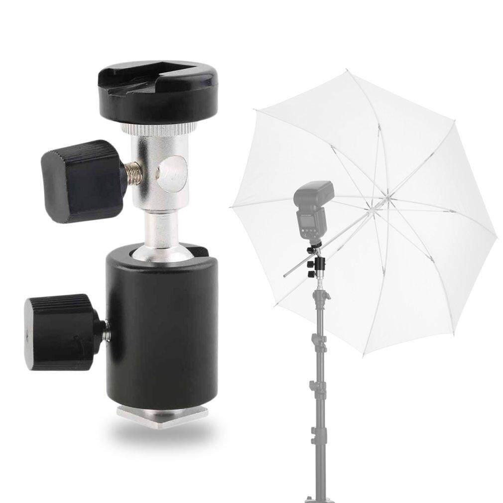 360 ° Putar Tipe C Payung Senter Pemegang Lampu Berdiri Bracket untuk Canon