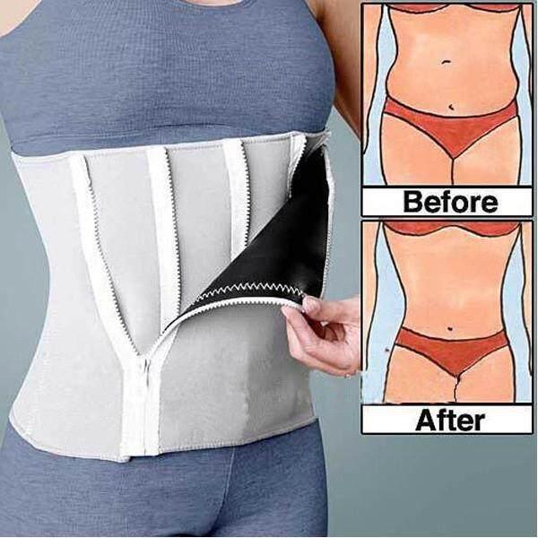 Body Shaping Closed Belt Waist Shaper Corset Zipper Girdle By Glimmer.