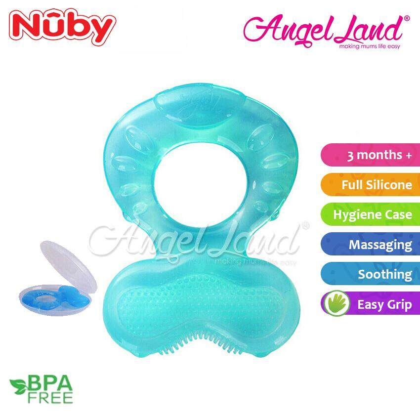 Nuby comfort silicone fish shaped teeth Random Color- NB53005