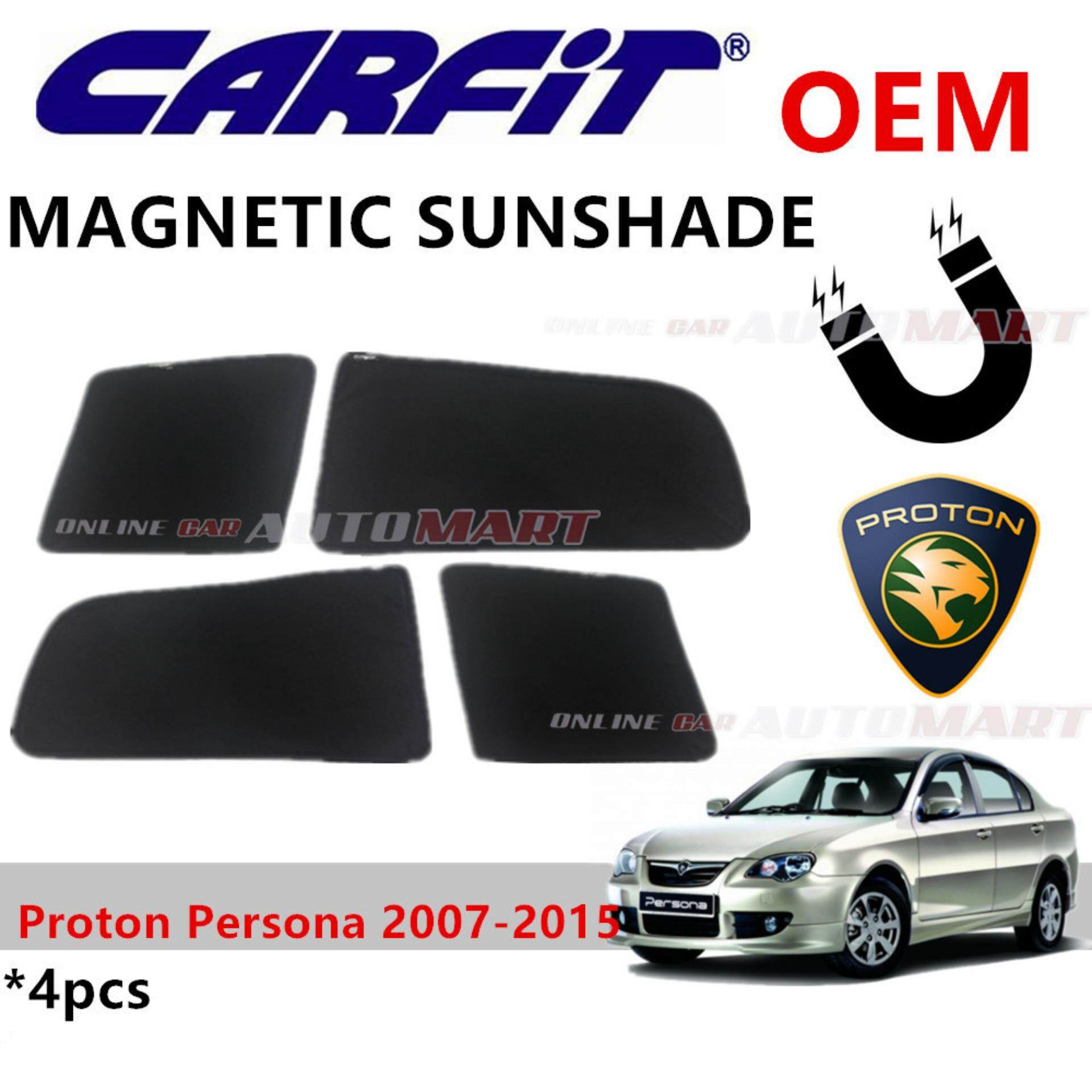 CARFIT OEM Magnetic Custom Fit Sunshade For Proton Persona Yr 2007-2015 (4pcs Sets)
