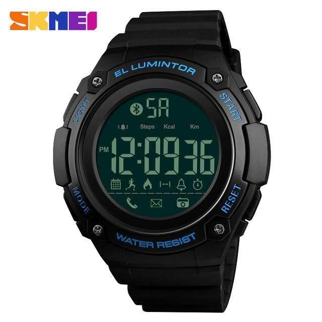 Hình ảnh SKMEI Men's Smart Sports Watches Pedometer Calorie Digital Watch Outdoor Remote Camera Call/APP Reminder Bluetooth Wristwatches 1347