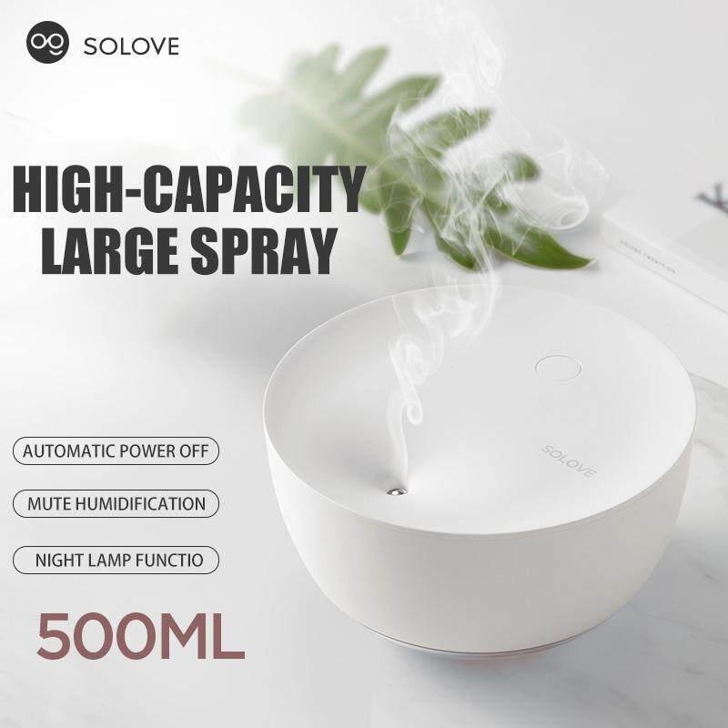500 Ml Udara Ultrasonik Humidifier Kapasitas Besar Mini Listrik Aromaterapi Minyak Atsiri Penyebar Aroma dengan Lampu