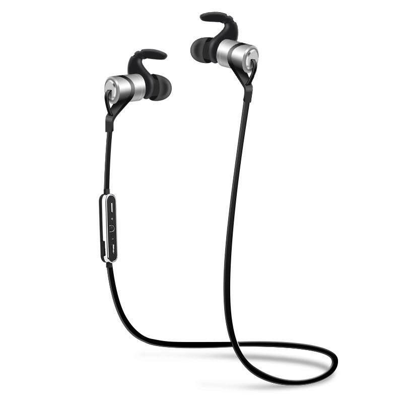 Ajkoy D9 Headphone Bluetooth Nirkabel Headset Olahraga Kebugaran Lari Earphone Tahan Basah Logam Telinga Hook Earphone