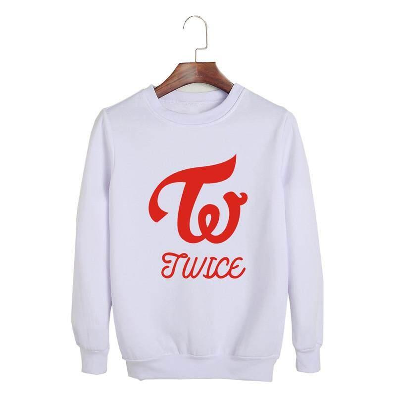 Dua Kali Album Apa Itu Cinta Kpop O-Leher Jaket Tudung Katun Hip Hop Atasan Lengan Panjang K-Pop Sweater Pullover PT732