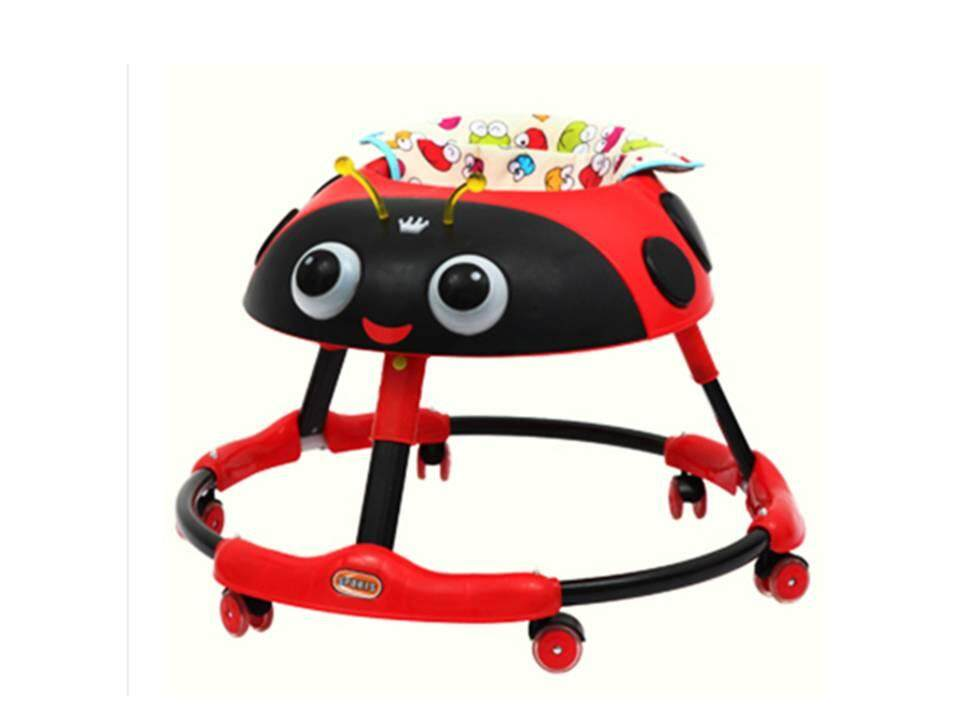 Lady Bird Round Shape Baby Walker with Music and LED Lights