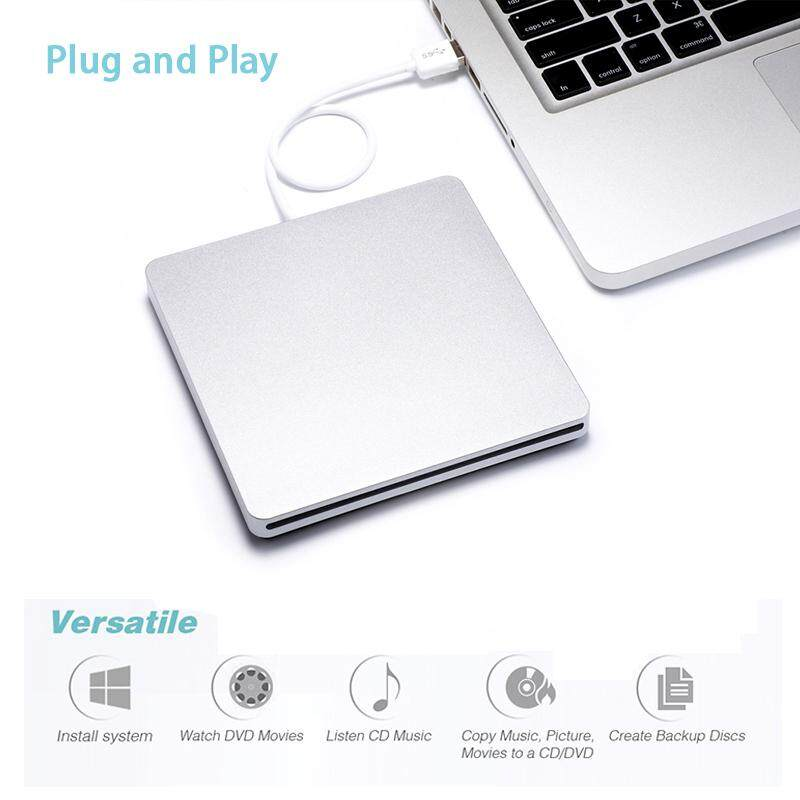 USB External Slot in DVD CD Drive Burner for Apple MacBook Air Pro