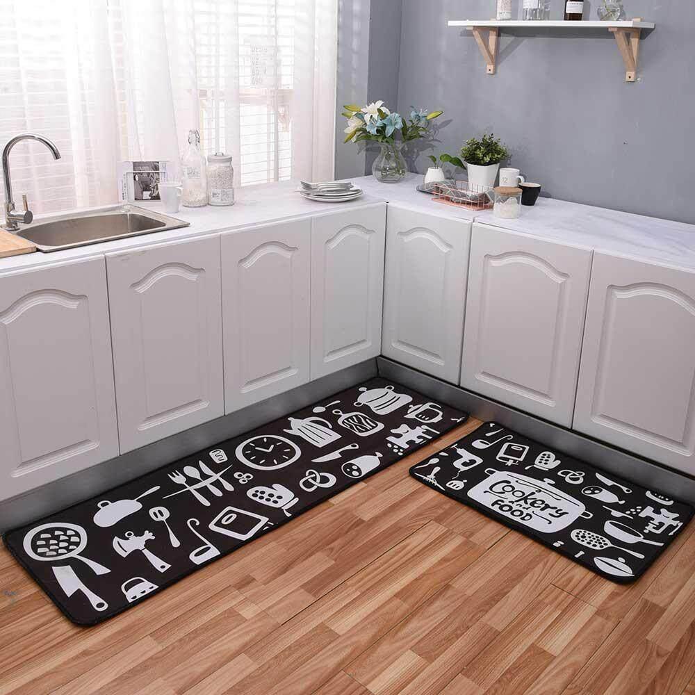 Non-Slip Kitchen Mat, Decorative Thicken Area Rug Anti Fatigue Kitchen Floor Mat Non