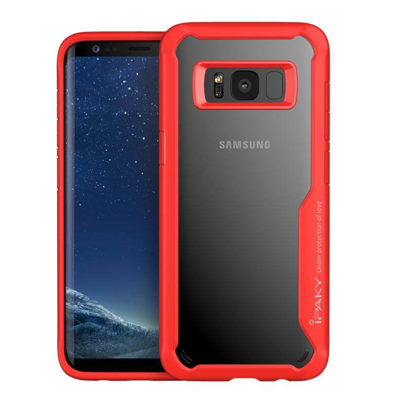 IPAKY Anti-drop PC + TPU Hybrid Phone Shell for Samsung Galaxy S8 Plus G955 - Red - intl